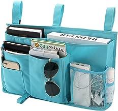 Bseash 8 Pockets 600D Oxford Cloth Caddy Hanging Organizer Bedside Storage Bag for Bunk and Hospital Beds,Dorm Rooms Bed Rails (Light Blue)
