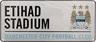 Manchester City FC Official Etihad Stadium Metal Stadium Street Sign (One Size) (White)