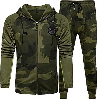 Mens Sweatsuits 2 Piece Hoodie Tracksuit Casual Comfy Camo Suits for Men