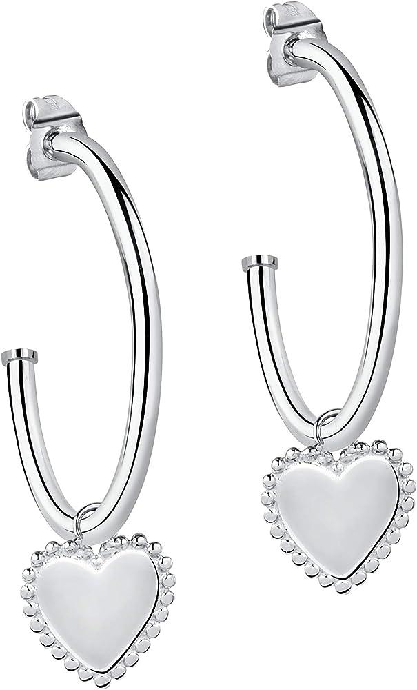 Morellato, orecchini da donna,in lucente acciaio inossidabile SAKM45
