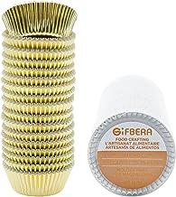 Gifbera Mini Foil Baking Cups Gold, 300-Count Bright Foil Paper Gold Cupcake Liners Mini Size