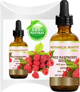 RED RASPBERRY SEED OIL. 100% Pure / Natural / Undiluted / Refined Cold Pressed Carrier Oil. 0.5 Fl.oz.-15 ml. For Skin, Hair, Lip and Nail Care.