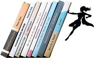 1 Pieza, Blanco Utilizado en Escuelas Familias Miystn Sujetalibros Sujetalibros Originales Estudiantes Bibliotecas Sujetalibros Retr/áctil Extremos de Libros Creativos