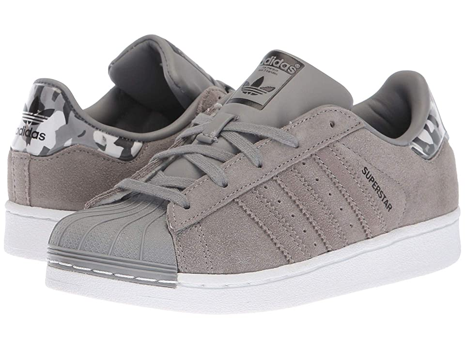 adidas Originals Kids Superstar Camo C (Little Kid) (Grey/White) Boys Shoes