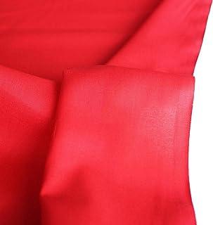TOLKO Baumwollstoff | 42 kräftige ÖkoTex Farben Baumwoll-Nesselstoff uni Kleiderstoff Dekostoff | Baumwolle Meterware 150cm breit | Vorhang-Stoff Bezugsstoff Webstoff 50cm Rot