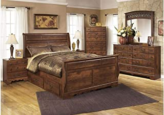 Amazing Buys Timberline Bedroom Set by Ashley Furniture - Includes, Queen Bed Dresser, Mirror and 1 Night Stand