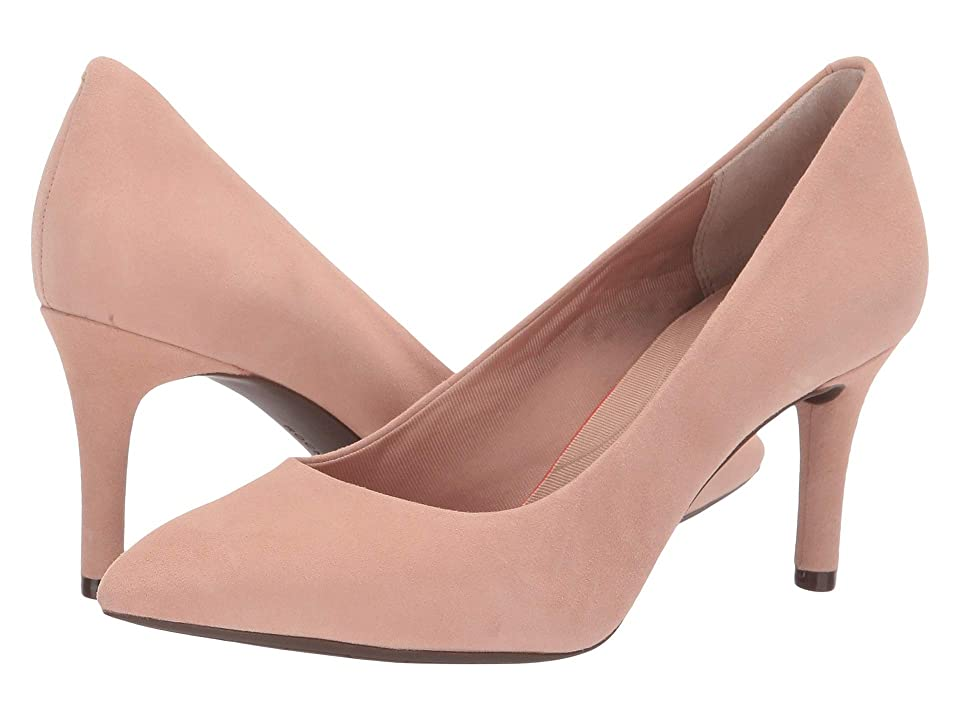 Rockport Total Motion 75mm Pointy Toe Pump (Dusty Peach) High Heels