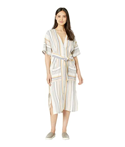 Three Dots Portofino Stripe Kimono Dress (Multi) Women