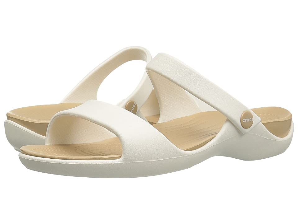 Crocs Cleo V (Oyster/Gold) Women