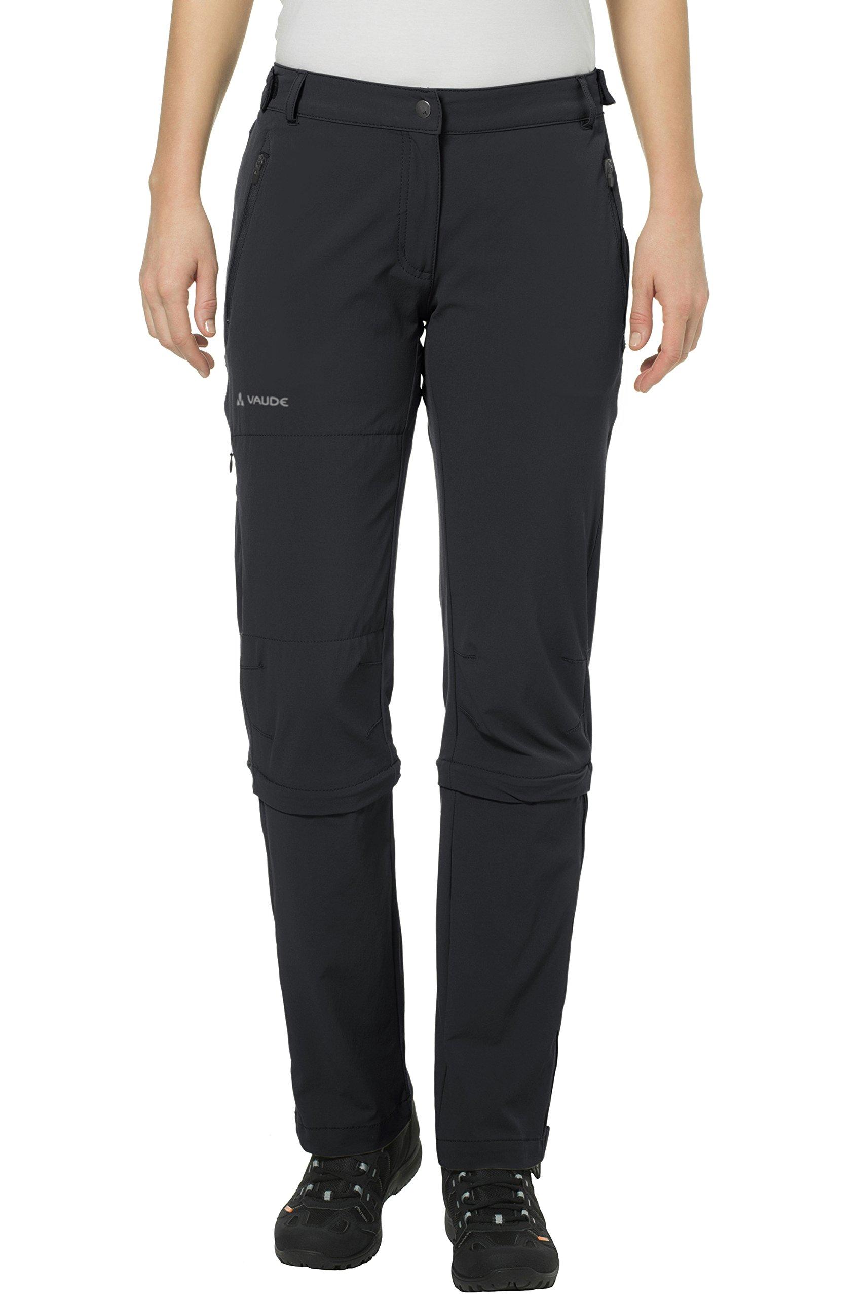 VAUDE Damen Hose Women's Farley Stretch Capri T-Zip II, Black, 36, 045770100360
