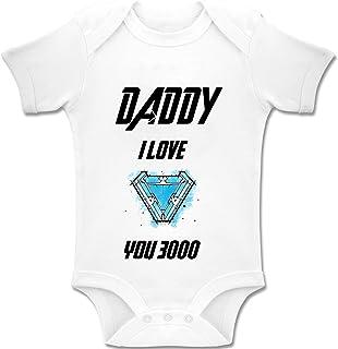 Acen Merchandise Daddy, I Love You 3000 - Baby Bodys/Strampler Romper Onesie Unisex 100% Baumwolle 0-24 Monate
