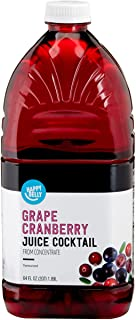 Amazon Brand - Happy Belly Grape Cranberry Juice from Concentrate, 64 Ounce