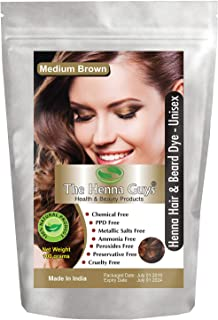 MEDIUM BROWN Henna Hair & Beard Color/Dye – 1 Pack – The Henna Guys