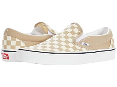 Vans Classic Slip-On ((Checkerboard) Incense/True White) Skate Shoes