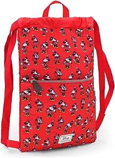 Disney Classic Minnie Cheerful Bolsa de Cuerdas para El Gimnasio, 42 cm, Rojo