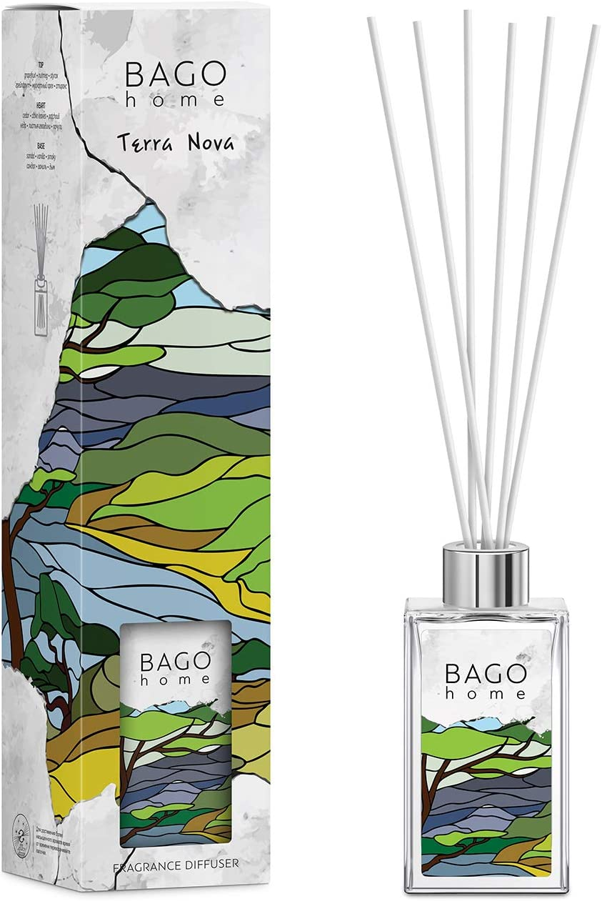 BAGO home Reed Diffuser Set Grapefruit Bombing free shipping Styrax - Nova High material Terra