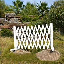 Wooden Fence Telescopic Fence Balcony Courtyard Garden Lawn Decorative Fence