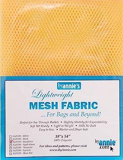 """Annie Mesh Fabric Lightweight 18""""x 54"""" Dandelion, 18"""" by 54"""""""