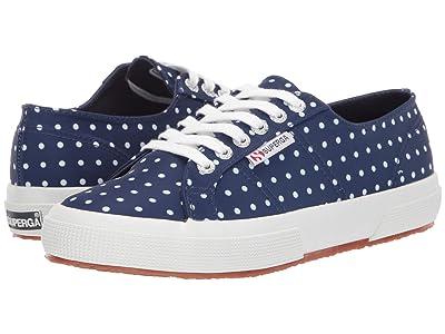 Superga 2750 Microtechw Sneaker (Blue Polka Dot) Women