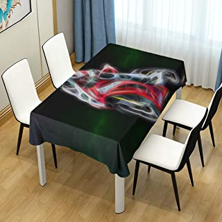 JOSENI Nature Art Flowers Cats Fractal Colors Wallpaper Bike Waterproof Tablecloth Cover for Kitchen Dinning Tabletop Decoration