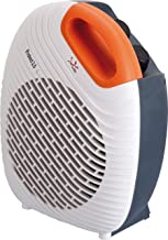 Jata TV64 Termoventilador vertical, 2000 W, Frontal blanco, asa naranja y trasera negra