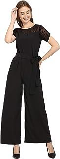 Serein Women's Crepe Jumpsuit (Black)
