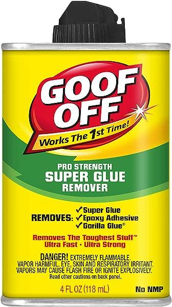 Goof Off FG677 Super Glue Remover 4 Ounce