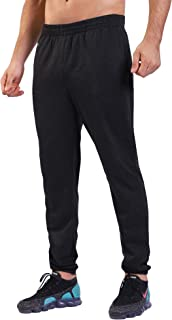 Men's Sweatpants Joggers Jogging Running Pants with Zipper Pockets for Gym Workout Training