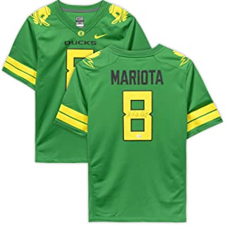 Marcus Mariota Oregon Ducks Autographed Nike Game Apple Green Jersey - Fanatics Authentic Certified - Autographed College Jerseys