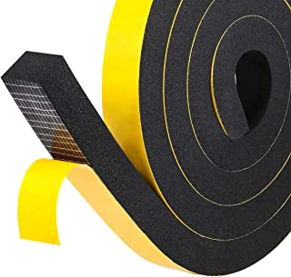 High Density Foam Insulation Tape, Soundproofing Closed Cell Foam Seal Weather Stripping with Adhesive 1
