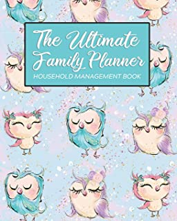 The Ultimate Family Planner Household Record Book: Aqua Cute Owl Family Bird Mom Tracker    Calendar Contacts Password   School Medical Dental ... Budget Expenses     Mothers Day Gift