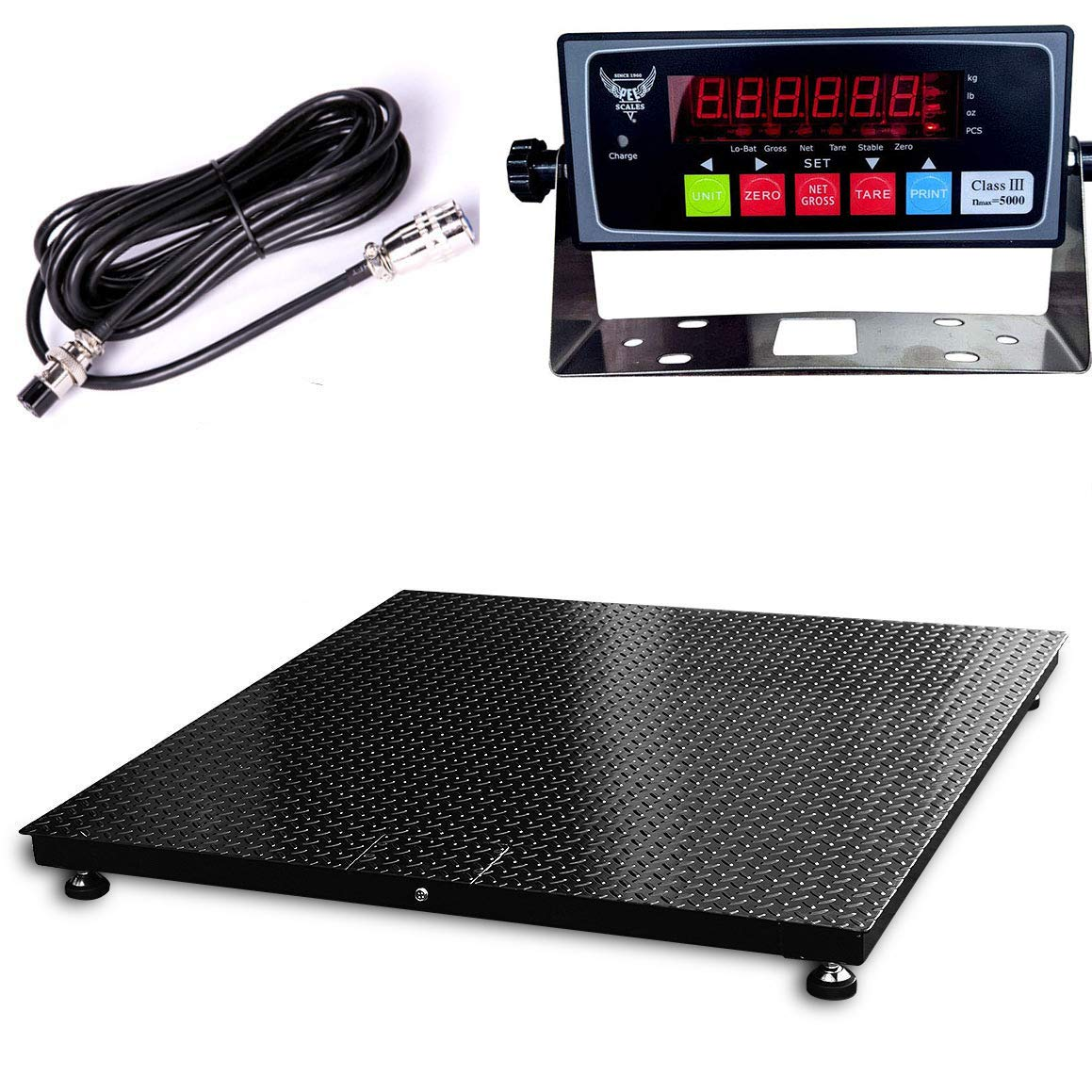 PEC Max 79% OFF Industrial Floor Scale Accurate Pallet Sc Sales for sale Warehouse Digital