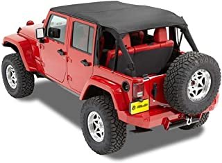 Bestop 52594-35 Bikini Black Diamond Safari Style Header Top for 2010-2018 Wrangler Unlimited