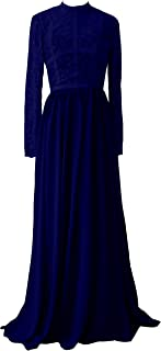TalinaDress Womens Long Lace Chiffon Sheer Bridesmaid Dress Prom Gown E288LF