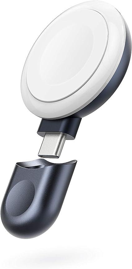 Anker Portable Magnetic Charger for Apple Watch (コードレス USB-C & Apple Watch磁気充電器)【MFi認証済】Apple Watch Series 1 / 2 / 3 / 4 / 5 / 6 / SE 各種対応