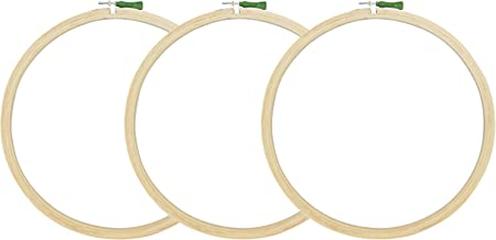 Asian Hobby Crafts Wooden Embroidery Hoop Ring Frame Size : 10 Inches (3 Pieces)