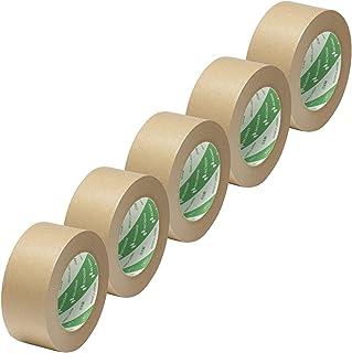 ニチバン クラフトテープ 50mm×50m 5巻パック 312150-5P 黄土