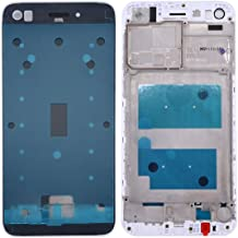Durable Materials Repair Parts Front Housing LCD Frame Bezel Plate Compatible with Huawei Enjoy 7 / P9 Lite Mini / Y6 Pro (2017) for Phone (Color : White)