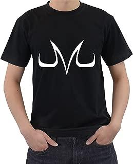 Cleshion Men's Black Dragon Ball Z Evil Majin Buu Logo Short Sleeve T-Shirt