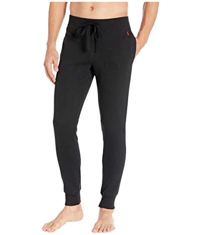 Polo Ralph Lauren Midweight Waffle Solid Jogger Pants (Polo Black/RL2000 Red Pony Print) Men
