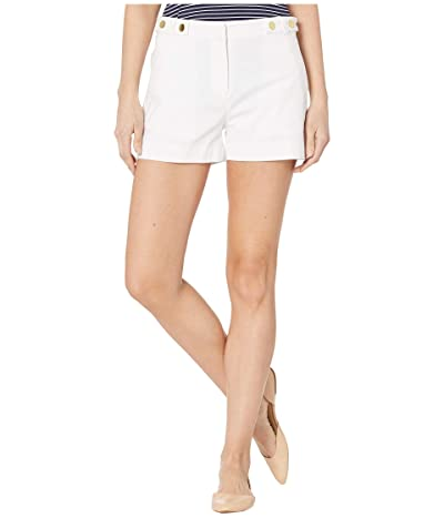 MICHAEL Michael Kors Snap Waist Shorts (White) Women
