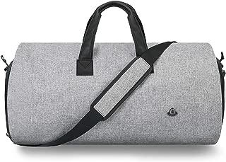 BUG ガーメントバッグ ,2 in 1 旅行 スーツ バッグ 折り畳み式スーツバッグ ライトグレー