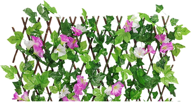 Cl/ôture en Bois Artificielle avec Cl/ôture De Confidentialit/é pour Fleurs Adapt/ée /À La D/écoration Murale Aux /Écrans De Cl/ôture Aux Haies Di Cl/ôture R/étractable Cl/ôture Artificielle