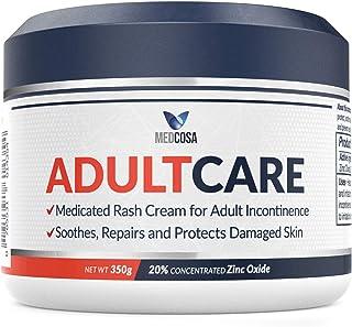 Medcosa Adult Rash Cream – Fast Relief from Sweat Rash, Heat Rash & Adult Diaper Rash (Incontinence Cream) – Thick Moistur...