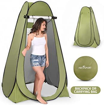1.9 LIKEJJ pop up tent beach,Pop-up outdoor fishing tent camping portable toilet camping folding shower tent-green/_1.5 1.5