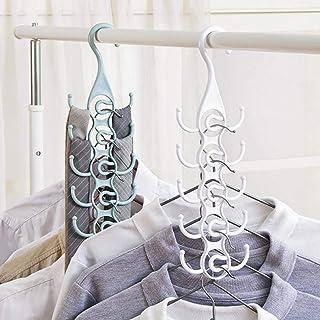 Sjaals Hanger Closet Organizer Tie Hanger Kledingrek Voor Stropdassen Riemen Huishouden(wit)