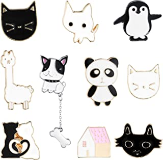 10 Pieces Enamel Pin Set Cartoon Lapel Brooch Space Badge Pin for Clothes Bag Jacket Backpack Decoration (Style Set 2)