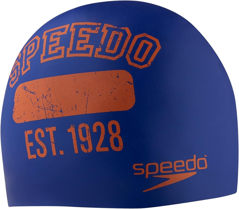 Speedo Silicone 'Varsity Campus Collection' Swim Cap
