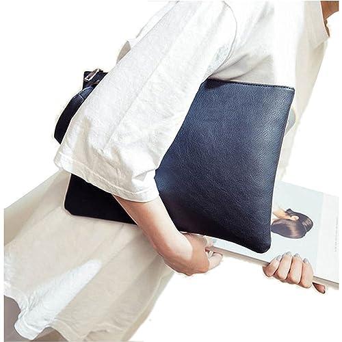 d3f6bd073dc ZOONAI d Clutch Bag Purse, Womens Large leather Evening Wristlet Handbag