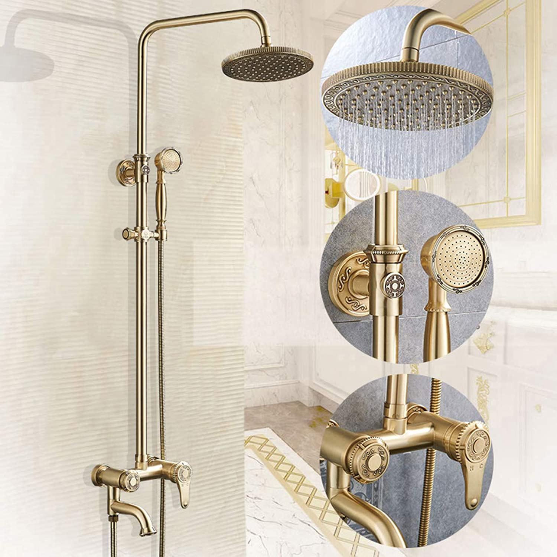 Duschset Regendusche Thermostat Duschsystem Duscharmatur Aufputz Duschset Duschgarnitur Duschstange überkopfbrause Dusche Antiquitt